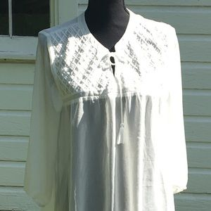 NWOT MAURICES white dress shirt